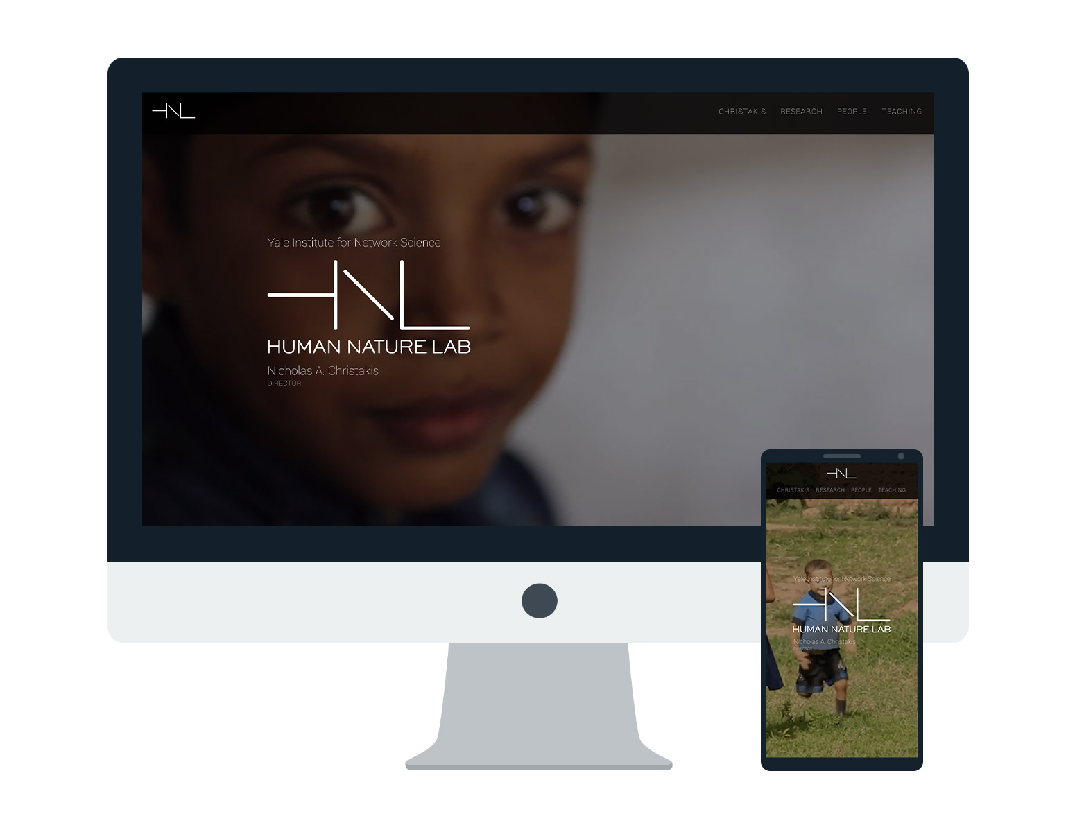 Human Nature Lab website on desktop and mobile.